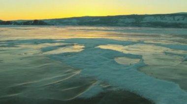 Baikal Lake in winter — Stock Video