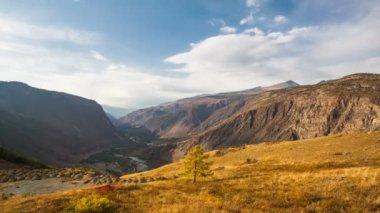 Autumn mountain landscape — Stock Video