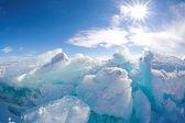 Winter Baikal Ice — Stock Photo