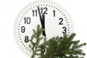 Watch with fir branch  — Stock Photo