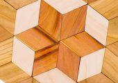 Wooden mosaic — Stock Photo