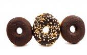 Chocolate donuts — Stock Photo