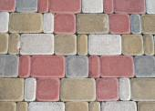 Colored paving slabs — Stock Photo