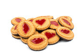 Biscuits with jelly filling — Stock Photo