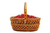 Basket of raspberries — Stock Photo