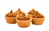 Sand basket with cream — Stock Photo