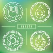 Vector outline logos - healthcare and medicine — Stock Vector