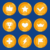 Vector cartoon gamification badges — Stock Vector