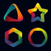 Vector rainbow logo templates — Stock Vector