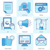 Vector internet business infographic — Stock Vector