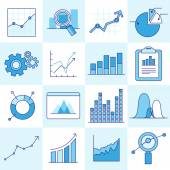 Vector set of business graphs — Stock Vector