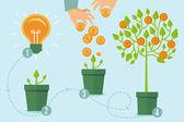 Vector crowdfunding concept in vlakke stijl — Stockvector