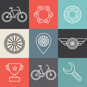 Vector hipster bicycle logo templates — Wektor stockowy