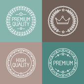 Vector set of line badges and logos — Stock Vector