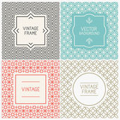 Vector mono line graphic design templates — Stock Vector