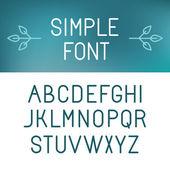 Vector minimalistic font set — Stock Vector