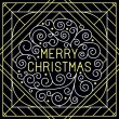 Vector merry christmas hand lettering — Stock Vector #55067519