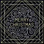 Vector merry christmas hand lettering — Stock Vector