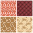 Vector coffee seamless patterns — Stock Vector #55390213