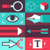 Vector graphic design concept — Vetorial Stock