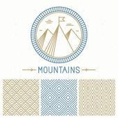 Vector mountain design kit — Vetorial Stock
