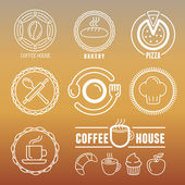 Vector bakery and pastry emblems — Stock Vector