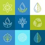 Vector organic logos — Stock Vector #60054799