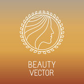 Vector beauty and spa line logo — Vector de stock