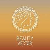 Vector beauty and spa line logo — Wektor stockowy