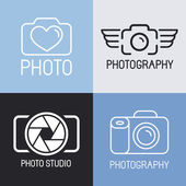 Vector set of photography logos  — Vettoriale Stock