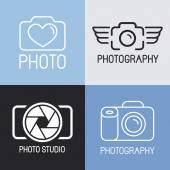 Vector set of photography logos  — Stok Vektör