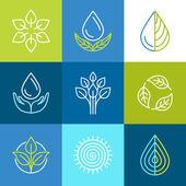 Vector organic logos — Stock Vector