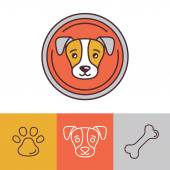 Vector dog icons and logos — Stock Vector