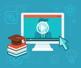 Online education — Stock Vector