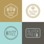 Vector gluten free badges — Stockvektor