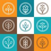 Set of nature badges  — Stock Vector