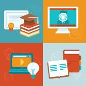Vector online education concepts — Stock Vector