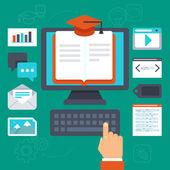 Concetto di formazione online di vettore — Vettoriale Stock