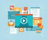Vector e-learning concept  — Stock Vector