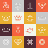 Vector winner awards and victory signs — Stockvektor