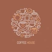Vector coffee house logo concept — Stock Vector