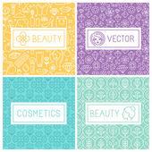 Vector beauty labels — Stock Vector