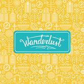 Vector wanderlust logo — Stock Vector