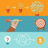 Vector achievement and realization concepts — Stock Vector