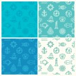 Vector set of seamless patterns — Stock Vector #70476061