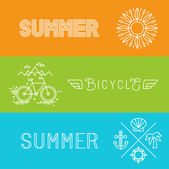 Vector summer holidays banners — Stock Vector