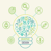 Vector graphic design concept — Stock Vector