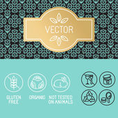 Vector design elements in trendy linear style — Stock Vector