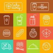 Vector take away food — Stock Vector