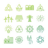 Vector ecology signs and icons — Stock Vector